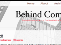 Behind Companies Redesign