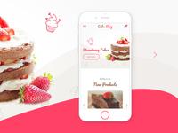 Cake shop responsive view