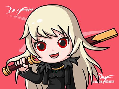 DNF-Female ghost swordsman sword girl dnf ai design game illustrator
