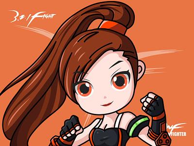DNF-Fighter design girl dnf game illustrator
