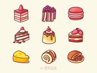 Dessert illustration series