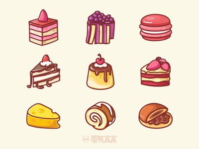 Dessert illustration series cream cake illustrator