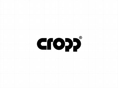 CROPP® minimal circle logotype logo crop