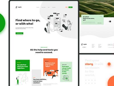 Landing page design for Zegaia illustration ui