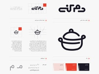 Identity for cooking assistant mobile app (Damkoni) logotype branding identity visual identity cooking logo food logo pot logo food cooking mark pot logo