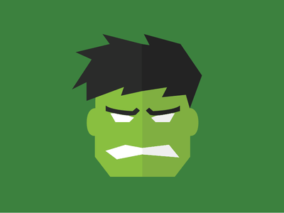 The Hulk the hulk superheroes avengers hulk flat illustration