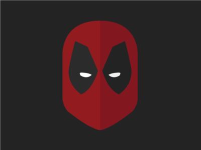 Deadpool superheroes deadpool illustration flat