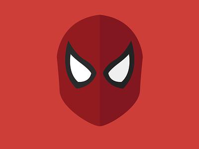 Spider man illustration flat spider man