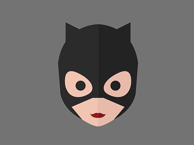 Catwoman illustration flat catwoman