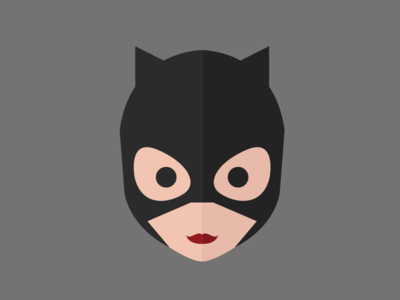 Catwoman illustration flat catwoman