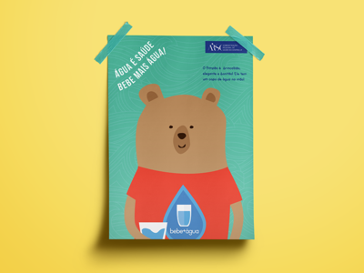 Children's Campaign children water campaign poster illustration bear