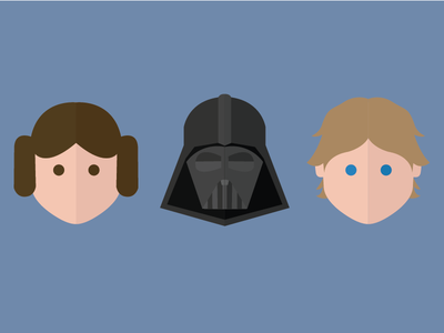 Star Wars - Family Ties movies graphic flat illustration star wars