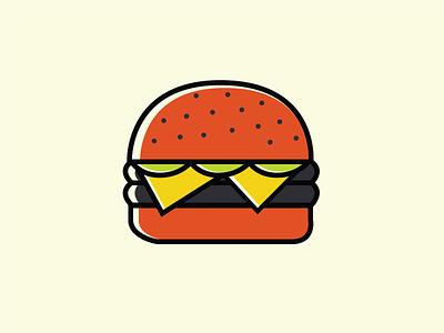 Freebie Burger icon food burger illustration