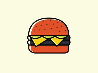 Freebie Burger icon food burger illustration