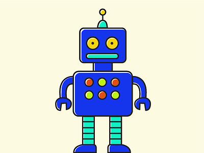 Freebie Robot vector illustration flat robot freebie