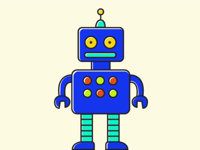 Freebie Robot vector illustration flat robot freebie