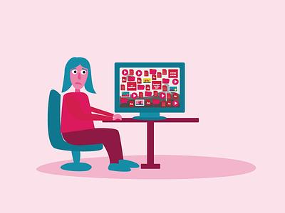 Illustration pink illustration