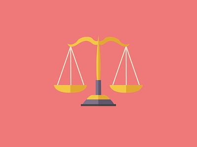Freebie - Law Icon scale pink freebie icon law