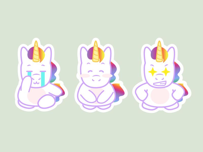 Unicorn Stickers 3 – Freebie