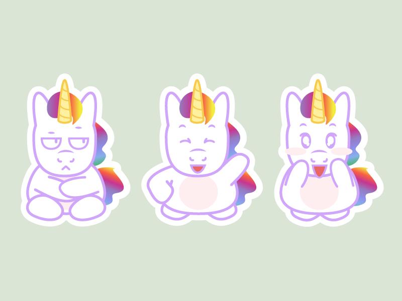 Unicorn Stickers Pack 4
