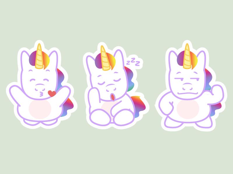 Unicorn Stickers 5 – Freebie