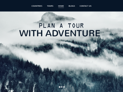 Tour Landing page web website ux type ui mobile ios flat gradiant vector illustrator branding app icon illustration design