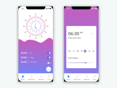 Clock Ui clock illustrator ux ui ios app