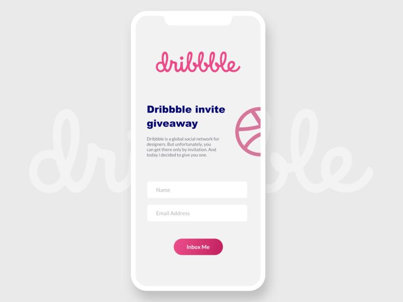 Dribbble Invite designer iphone x ux dribbble dribbble invites uxdesign ui design ui