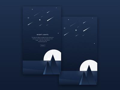 Warm Summer Nightlights branding graphicdesign design concept ui app iphone ux ux  ui uipractice uidesign