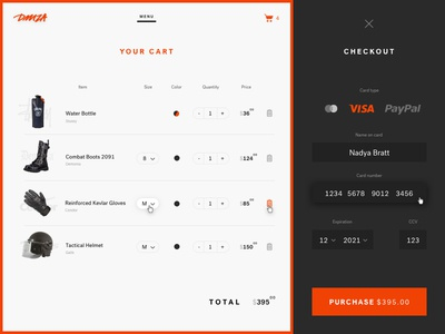 Credit Card Checkout sketch daily ui cart checkout credit card ui ux