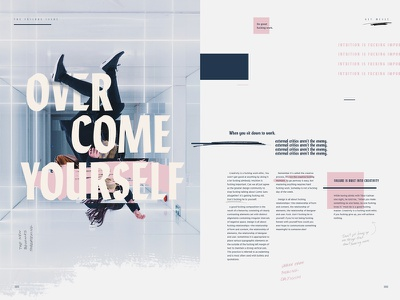 Lydia blue pink editorial layout typography lydia