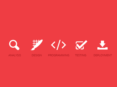 Simple icons icon simple minimalist red