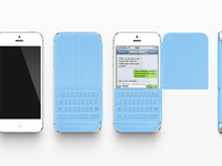Iphone smart cover keyboard