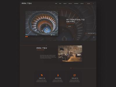 Ark.Tek Architect Website UI