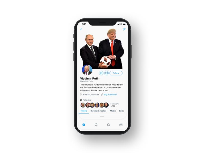 Twiiter Mobile App Redesign - Putin Special design app putin trump web design website user interface ux ui