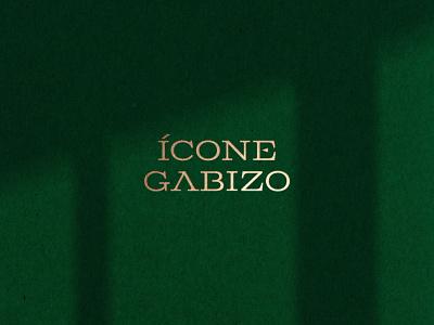 Ícone Gabizo typography design gold logo hotel logo luxury logo typography logotype logo