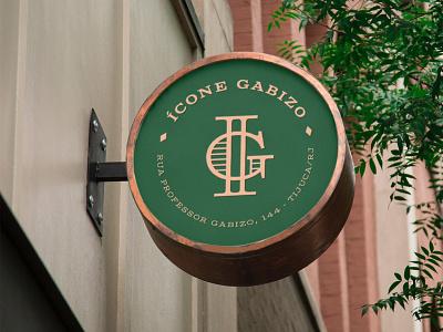 Ícone Gabizo signaling symbol brand identity hotel luxury contemporary green brand monogram