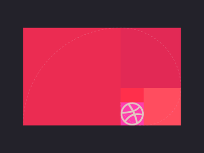 Hi Dribbble grid pink dribbble golden ratio