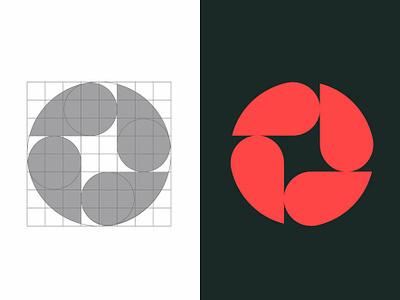 ASF Construções symbol illustration design logo grid dribbble brand