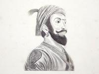 Sketch of Chhatrapati Shivaji Maharaj