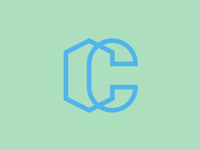 C.C. monogram study letter capital brand brand design outline vector logo c monograma cc monogram
