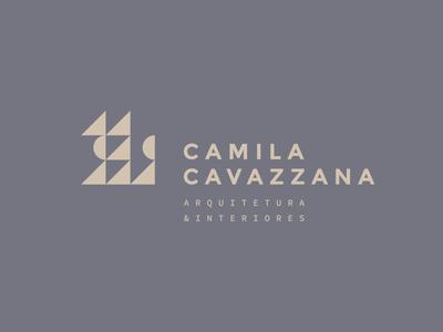 Camila Cavazzana — Brand Design interior design interiores arquitetura architecture logotipo marca brand logo geométrico geometric graphic design brand design