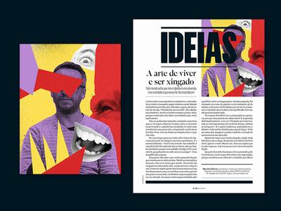 Editorial Illustration — VIP colagem digital collage editorial design revista vip magazine magazine editorial illustration