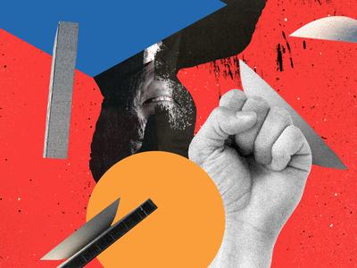 Editorial Illustration — VIP temer levando soco colagem digital collage editorial design revista vip magazine magazine editorial illustration