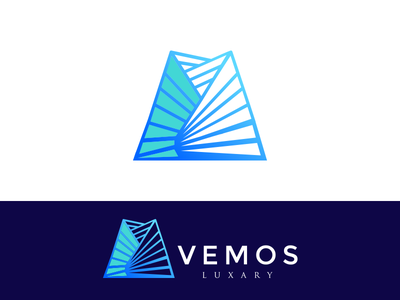 Vemos Luxary simple vector identity symbol creative building business construction logo graphic agency illustration typography process abstract minimal logo icon branding company mark