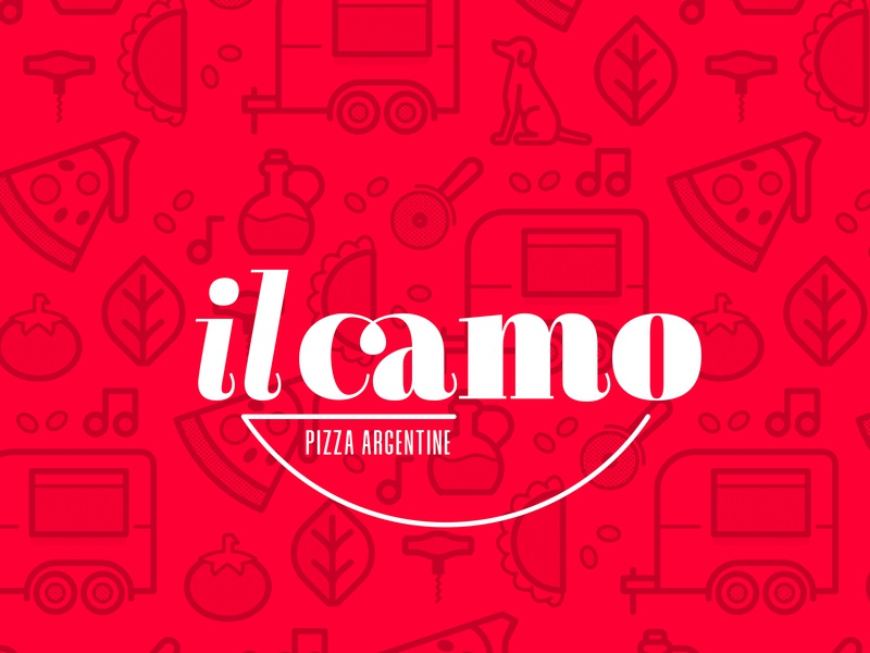 Il Camo food truck pizza logo brand