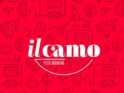 Il Camo food truck pizza logo brand