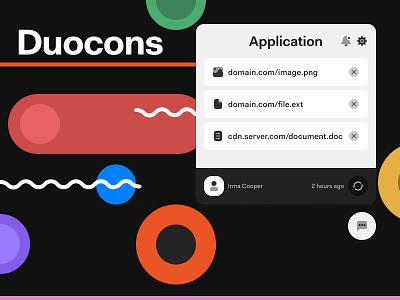 Duocons freebie icon set ui icon design design iconography icons