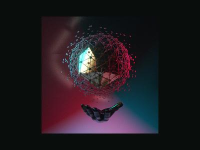 3D Studies — 006 shapes geometry colors cg color grading gradient light material texture c4d 3d design