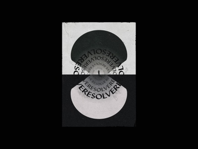 Layout & Typography Studies — 006 black  white layout texture warp vector circle grid art poster print illustration typography design